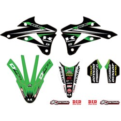 DCOR 18 GRAPHICS & TRIM KIT KAWASAKI TEAM GREEN KX 85/100 (14-17)
