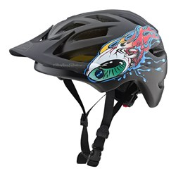 TLD 18 A1 AS HELMET YOUTH EYEBALL BLACK GREY YTH