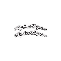 TLD ARCED FENDER DECAL SET BLK WHT