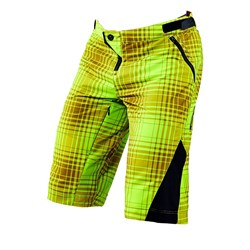 TLD 16 RUCKUS SHORT PLAID LIME GREEN