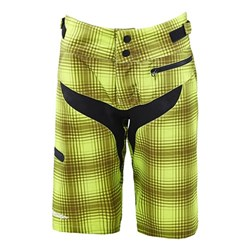 TLD 16 WMNS SKYLINE SHORT PLAID LIME GREEN