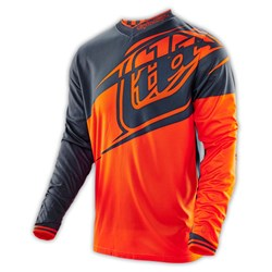 TLD 16 YTH GP AIR JERSEY FLEXION ORG/BLK