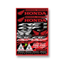 DCOR 18 DECAL SHEET HONDA CRF 12MM LOGO STICKER SHEET