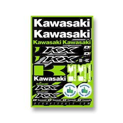 DCOR 18 DECAL SHEET KAWASAKI KXF 12MM LOGO STICKER SHEET