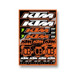 DCOR 18 DECAL SHEET KTM 12MM LOGO STICKER SHEET