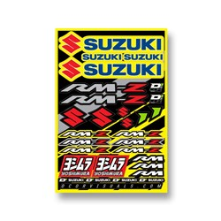 DCOR 18 DECAL SHEET SUZUKI RMZ 12MM LOGO STICKER SHEET