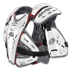 TLD BG 5955 YTH CHEST PROTECTOR WHITE YOUTH / SML