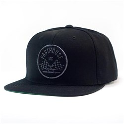 FASTHOUSE CHECKERS HAT BLACK OSFA