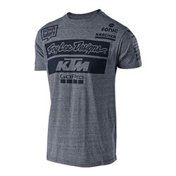 TLD 18 KTM TEAM YTH TEE CHARCOAL