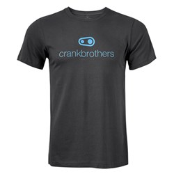 CRANKBROTHERS 17 ICON TEE DARK GREY BLUE LOGO