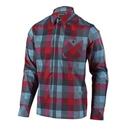 TLD 18 GRIND FLANNEL HIGH RISK RED