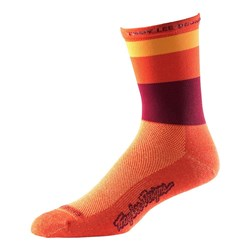 TLD 17 ACE PERF CREW SOCK HORIZON ORANGE