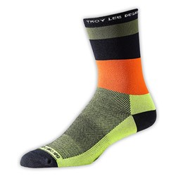 TLD ACE PERF CREW SOCK HORIZON ARMY GREEN