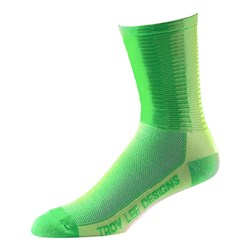 TLD 17 ACE PERF CREW SOCK FLO YELLOW