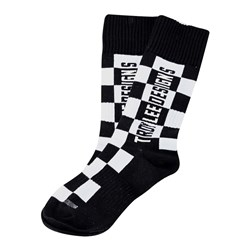 TLD 21 GP MX MOTO SOCKS YTH CHECKERS BLACK YOUTH (4-6)
