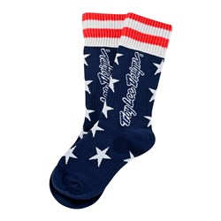 TLD 21 GP MX MOTO SOCKS YTH LIBERTY NAVY YOUTH (4-6)