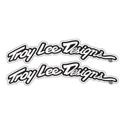 TLD ARCED FENDER DECAL ST-BLK/WHT