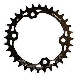 GAMUT CHAINRING THICK THIN RACERING M9000 XTR 34T BLACK