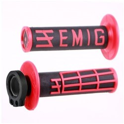 ODI MX V2 EMIG LOCK ON GRIP BLACK/RED  2 ST / 4 ST