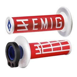 ODI MX V2 EMIG LOCK ON GRIP RED/WHITE  2 ST / 4 ST