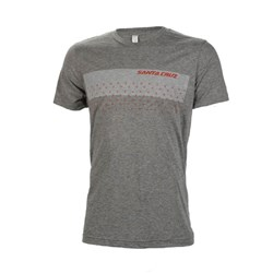 SC PIVOT BOLT STRIPE TEE HEATHER GRAY
