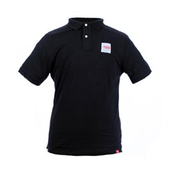 SC BLOCK LOGO POLO TEE BLACK