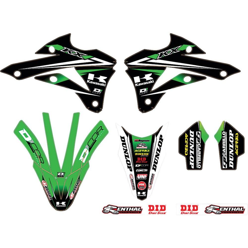 Dcor Kawasaki Trim Kit Team Green Kx 85 2014 Sticker Kits Lusty
