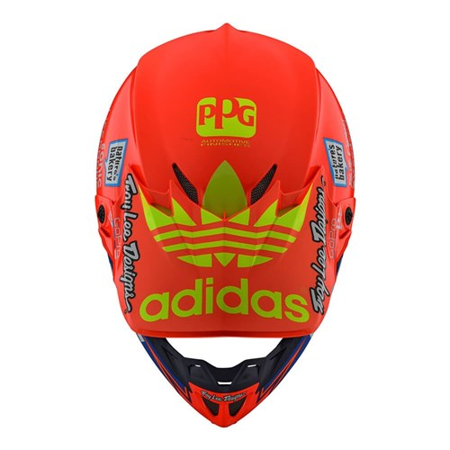 TLD 19 SE4 COMPOSITE HELMET TEAM EDITION 2 ORANGE / BLUE
