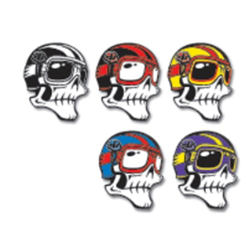 Tld skully sticker assorted 5 25 pack